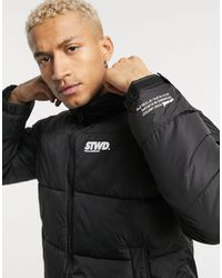 Pull&Bear Padded Puffer Jacket - Black