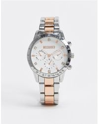 Missguided Two Tone Watch - Metallic