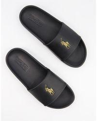 Polo Ralph Lauren Claquettes avec logo - Noir