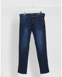 Replay Anbass - Jeans slim indaco scuro - Blu