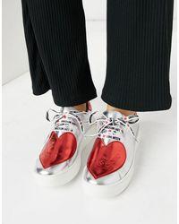 Love Moschino Heart Sneakers - Metallic
