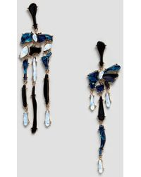 ASOS - Earrings With Mixed Resin Shape Strands In Gold - Lyst