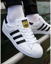 adidas Originals Superstar Animal Leather Sneakers - White