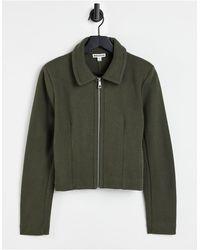 Whistles Veste en jersey zippée sur le devant - Kaki - Vert