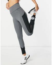 adidas Originals - Adidas - Training - Leggings da allenamento color block grigi - Lyst