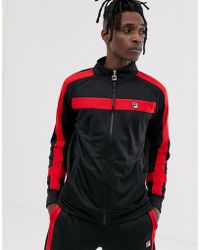 Fila - Renzo Track Jacket With Taping In Black - Lyst