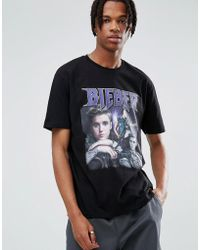 ASOS - Justin Bieber Relaxed T-shirt - Lyst