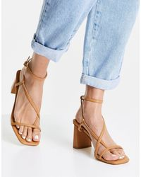 Forever New Indiana Strap Mid Block Heel Sandal - Brown