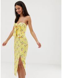 Finders Keepers Limoncello Midi Dress - Yellow