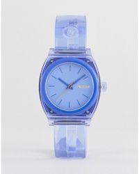 Nixon - A1215 Medium Time Teller Silicone Watch In Blue - Lyst