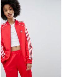 77945d42b116 adidas Originals - Originals Adicolor Three Stripe Track Jacket In Red -  Lyst