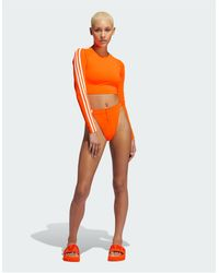 adidas Originals Adidas X Ivy Park Bikini Bottoms With Popper Detail - Orange