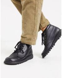 Kickers Kick Hi Flat Leather Boots - Black