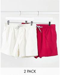 ASOS Набор Из 2 Шортов Для Плавания (розовые/серые) - Многоцветный