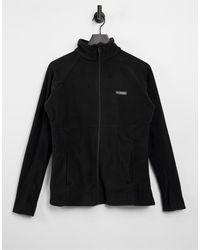 Columbia Черная Куртка Из Ткани Базен На Молнии Trail Ii-черный Цвет