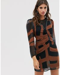 Religion - Ruched Front Mini Dress - Lyst