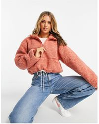 French Connection Cropped Fleece - Roze