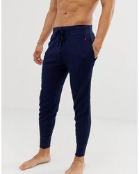 Polo Ralph Lauren Joggers confort à chevilles resserrées et logo joueur de polo - Bleu marine