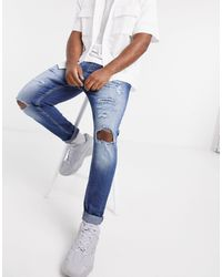 Pull&Bear Carrot Fit Jeans With Rips - Black