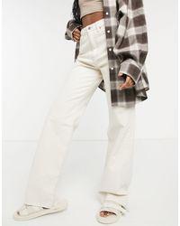 Stradivarius – Dad-Jeans im 90er-Stil - Weiß