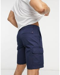 Tommy Hilfiger Tailored Cargo Shorts - Blue