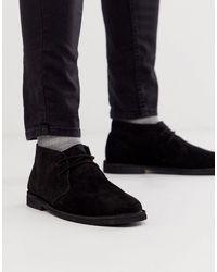 ASOS Chukka desert boots nero scamosciato