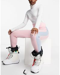 Missguided Ski Colourblock leggings - Pink