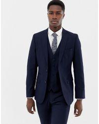 French Connection Plain Suit Jacket - Blue