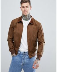 Fred Perry - Reissues Made In England Waxed Harrington Jacket In Tobacco - Lyst