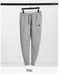 Nike - Серые Флисовые Джоггеры Tall Tech-серый - Lyst