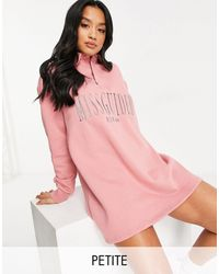 Missguided Rugby Sweater Dress - Pink