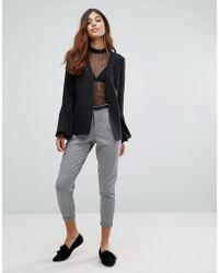 Vero Moda - Peg Trousers With Belt - Lyst