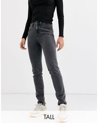 Noisy May - Jeans dritti lavaggio nero - Lyst