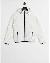 Bershka Lightweight Padded Jacket - White
