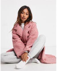 ASOS Bata larga rosa confort