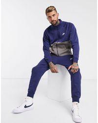 Nike Темно-синий Спортивный Костюм Club