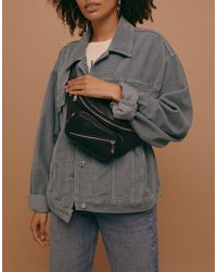 TOPSHOP Bum Bag With Zip Detail - Black