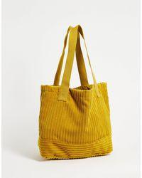 ASOS Bolso tote color mostaza extragrande - Amarillo