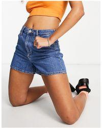 Lee Jeans Carol Denim Mom Shorts - Blue