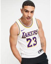 Nike Basketball – NBA LA Lakers Association Edition Lebron James – Trikot-Trägertop - Weiß