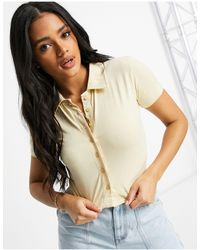 I Saw It First Short Sleeve Polo Top - Multicolor