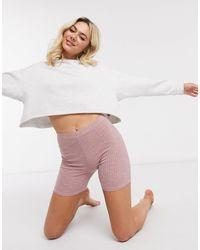 ASOS - Пыльно-розовые Пижамные Шорты-леггинсы От Комплекта - Lyst