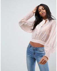 ASOS - Sheer Blouse With Historical Sleeve - Lyst