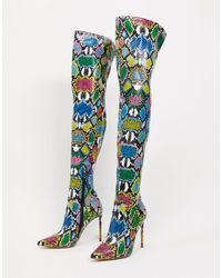 Steve Madden Viktory Thigh High Boot - Multicolor