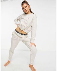 Calvin Klein Ck One Lounge - Joggingbroek Met Logo - Grijs