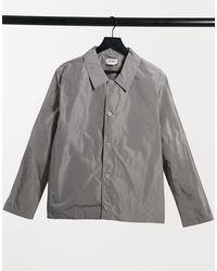 Weekday Рубашка Навыпуск Серого Цвета Georg-серый