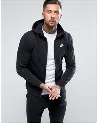 Nike Sudadera con capucha y cremallera en negro BV2645-010 Club