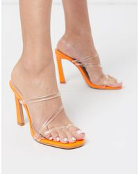 SIMMI Shoes Simmi London True Clear Mules - Orange