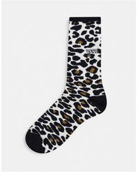 Vans Носки С Леопардовым Принтом -коричневый