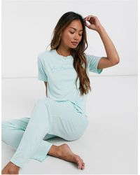 Adolescent Clothing Lazy Perfectionist T-shirt And Pants Pyjama Set - Pink